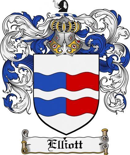 Irish Elliott's family crest / coat of arms from  www.4crests.com #coatofarms #familycrest #familycrests #coatsofarms #heraldry #family #genealogy #familyreunion #names #history #medieval #codeofarms #familyshield #shield #crest #clan #badge #tattoo