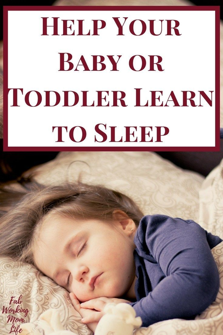 Help Your Baby or Toddler Learn to Sleep | Tips from The Baby Sleep Site #parentstips