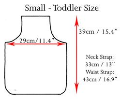 Sizing Chart, Toddler, Child, Adult, Apron and Clothing Sizes | Ariella Australia