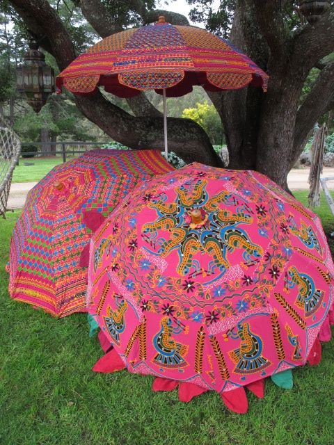 Indian sari umbrella - I would have to hand inside, or under deck....