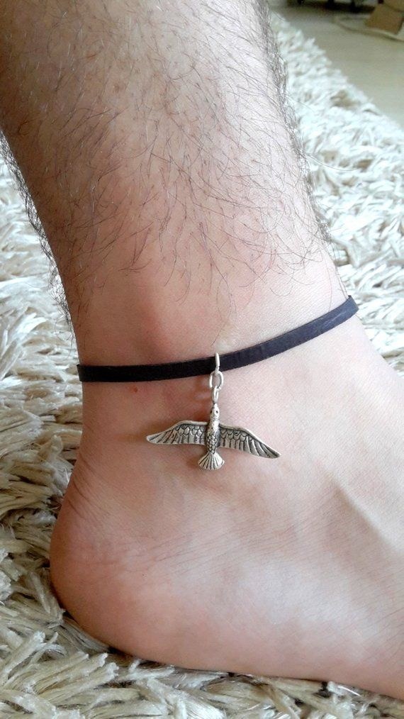 """Brown leather ankle bracelet 1//2/"""" x 9/"""" soft leather"""