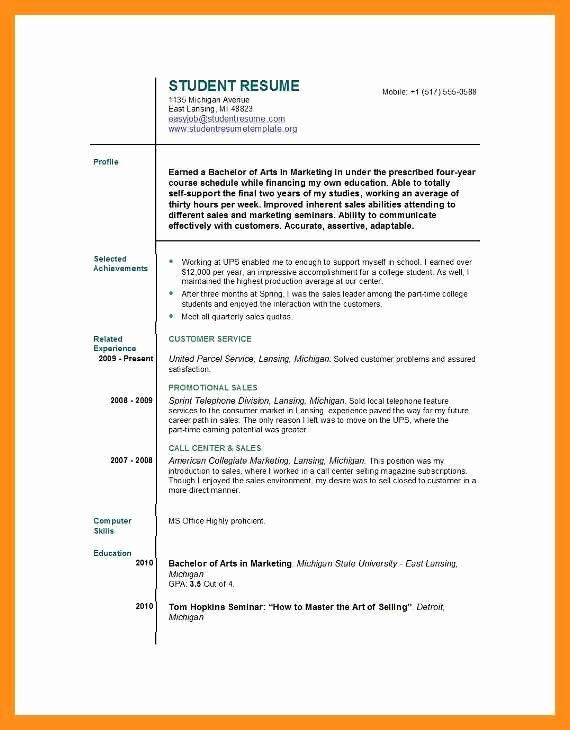 First Job Resume Template New 11 12 Resume Examples For Teenagers First Job Job Resume Template Job Resume Student Resume Template