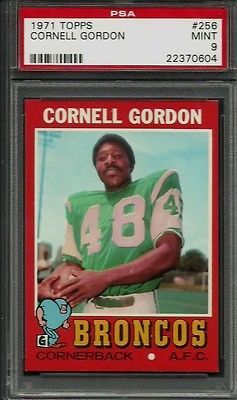 1971 Topps #256 Cornell Gordon PSA 9 MINT Denver Broncos North Carolina A