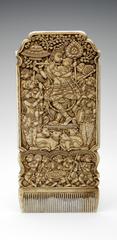 India | Hair comb in the Karnataka style | Ivory | 18th century