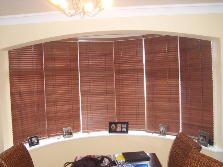 Wood Blinds On Bow Window Homes Pinterest Window