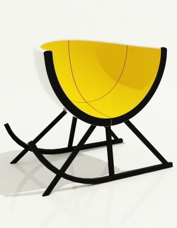 EGG ARMCHAIR by Andrey Dokuchaev. Constructivist & Asymmetric beauty
