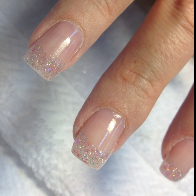 """Sugar Gel Nails--I don't get """"fake"""" nails anymore but these are gorg."""