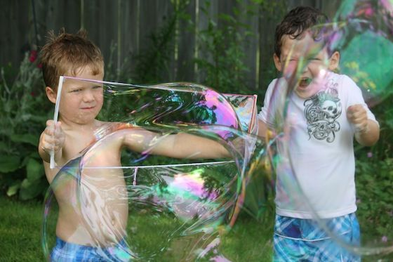 How to make your own giant bubbles - bubble recipe