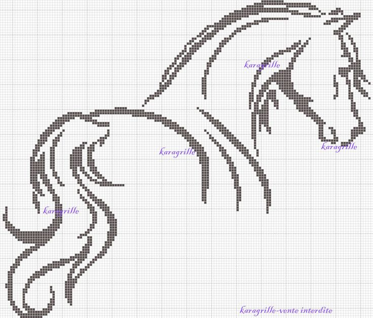free- Horse cross stitch