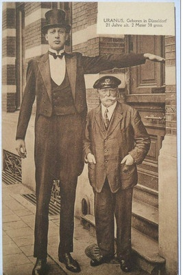 Giant German Uranus Circus Tallest Man Freakshow | eBay