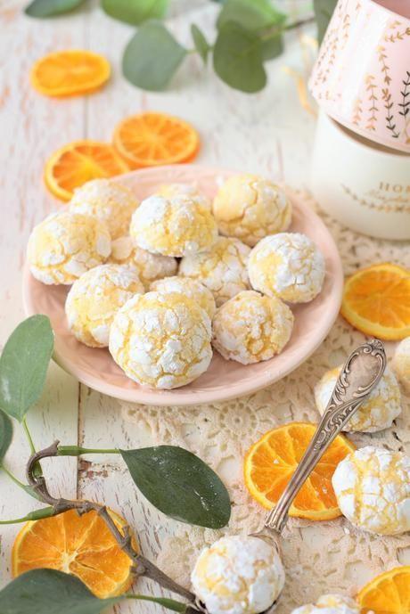 Zarte Orangen Bacios – Weiche Amarettinis   – Rezepte: Kekse, Plätzchen, Cookies & Pralinen