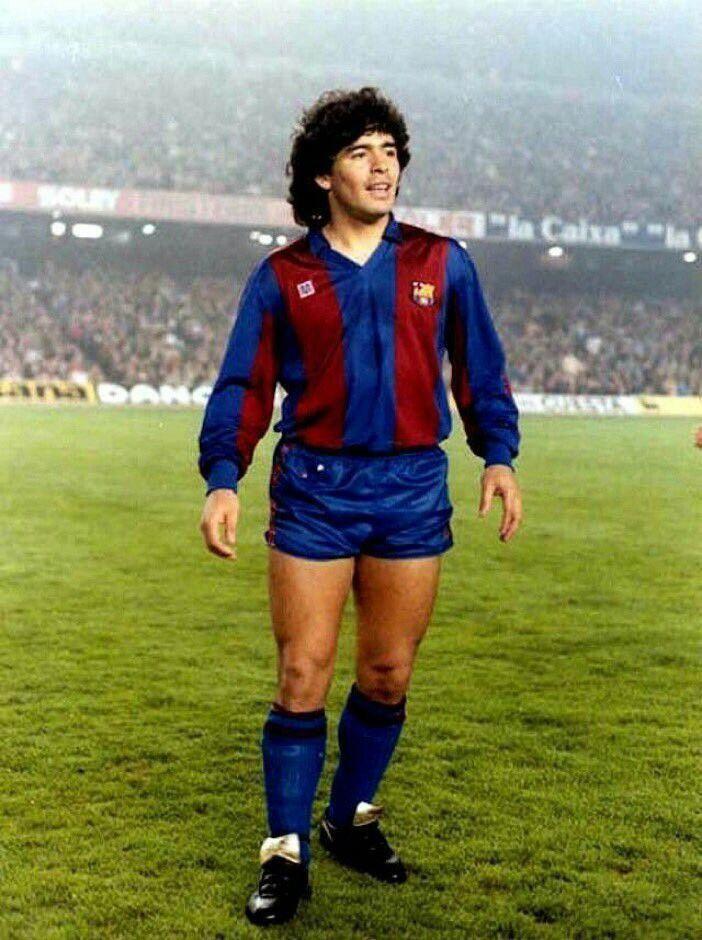 8442132ac Diego Maradona of Barcelona in 1983. .  soccerdrills