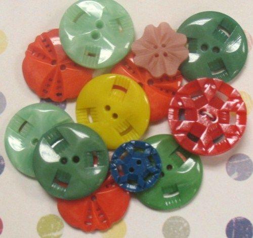 I love vintage buttons