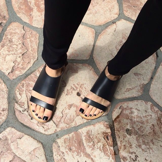 Black strappy wedges!