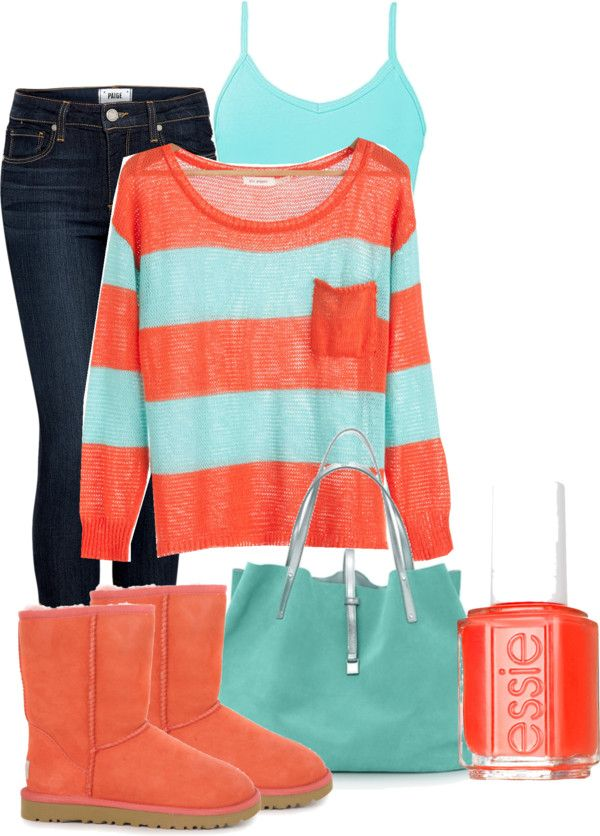 Love the colors! First time I actually think Uggs might be cute with an outfit haha.  But I would loose them anyways!