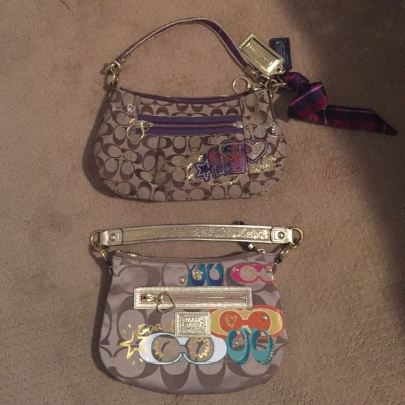 2 Coach Purses (SALE) Will sell both Coach purses in a bundle for $135 Check out individual listings on my profile for more info. Coach Bags Shoulder Bags