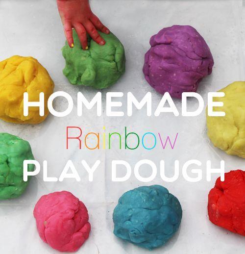Homemade Rainbow Play Dough