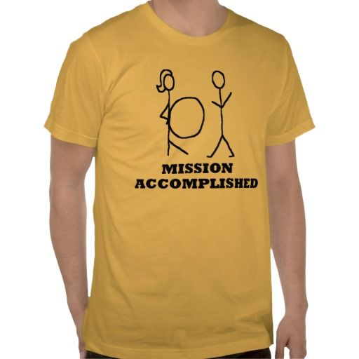 MISSION ACCOMPLISHED BABY DADDY NEW FATHER T-SHIRTS
