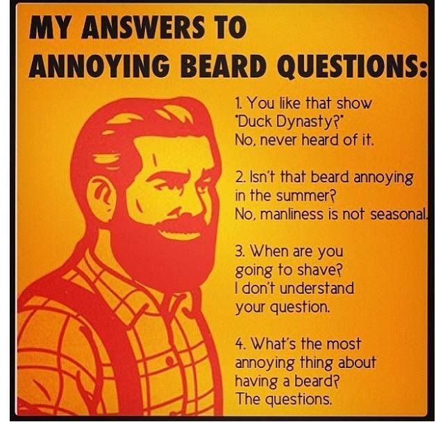 Answers to annoying beard questions.: Laughing, Ducks Dynasty, Beards Well, Answers, Funny Stuff, Humor, Things, Annoying Beards, Beards Questions