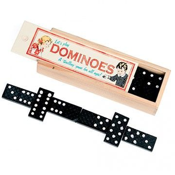 There's vintage charm in abundance with this traditional wooden dominoes set. #retro #toy #wood #game