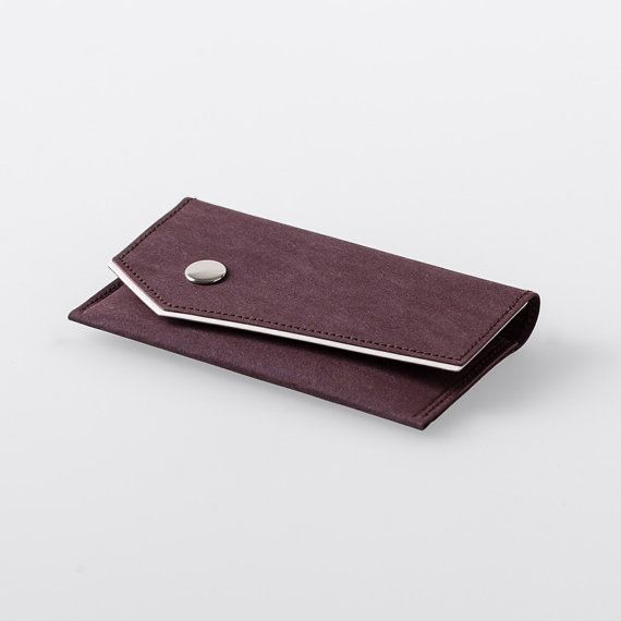 Bordered Angled Washable Paper Business Card Case by SIDONIEYANG, $45.00