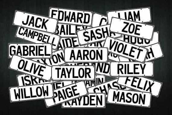 This listing is for one brand new custom made Mini Number Plate adhesive vinyl sticker/decal, with the name of your choice (up to 10 letters or numbers), created by Doozi.