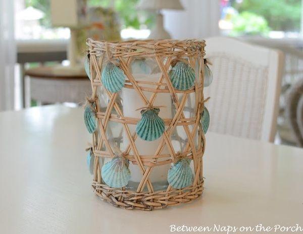 Sea Shell Glass Candle