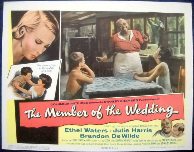 THE MEMBER OF THE WEDDING Set of 8 Lobby Cards Carson McCullers Ethel Waters