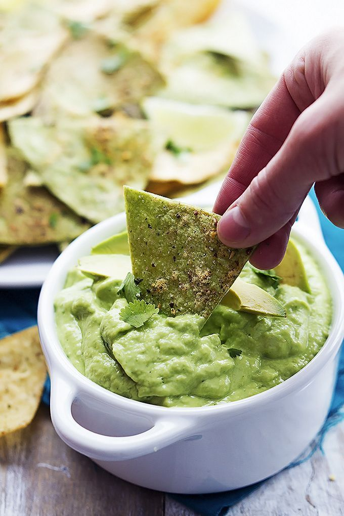 Baked Guacamole Tortilla Chips | Recipe | Guacamole, Tortilla chips ...