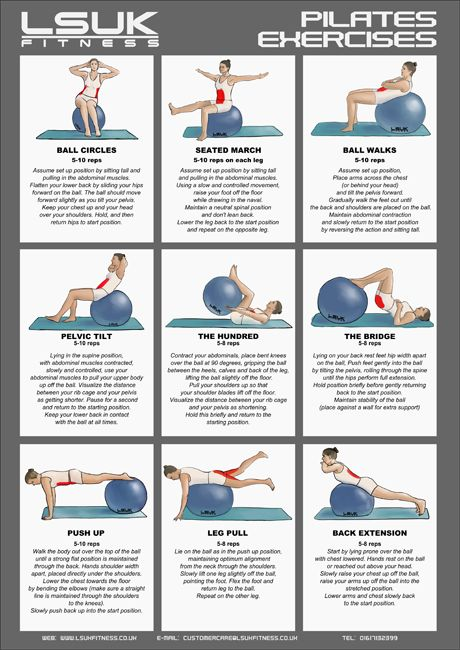 1000+ images about Well Being - Pilates Ball on Pinterest ...