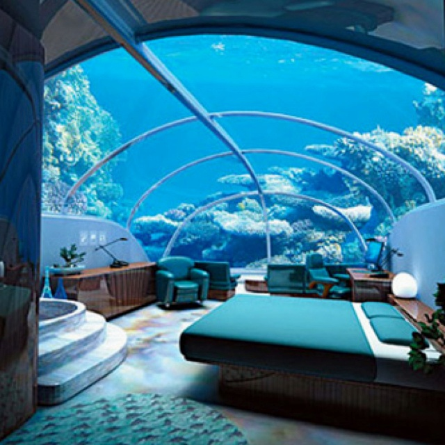 I really want to go now! - Poseidon Hotel Fiji: Dreams, Resorts, Aquarium, Underwater Hotels, Places, Hotels In Dubai, Underwater Rooms, The Sea, Underwater Bedrooms