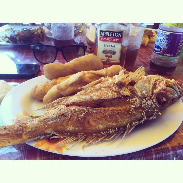Fried Fish, Festival, and Appleton Rum at Boardwalk Beach in Portmore, Jamaica