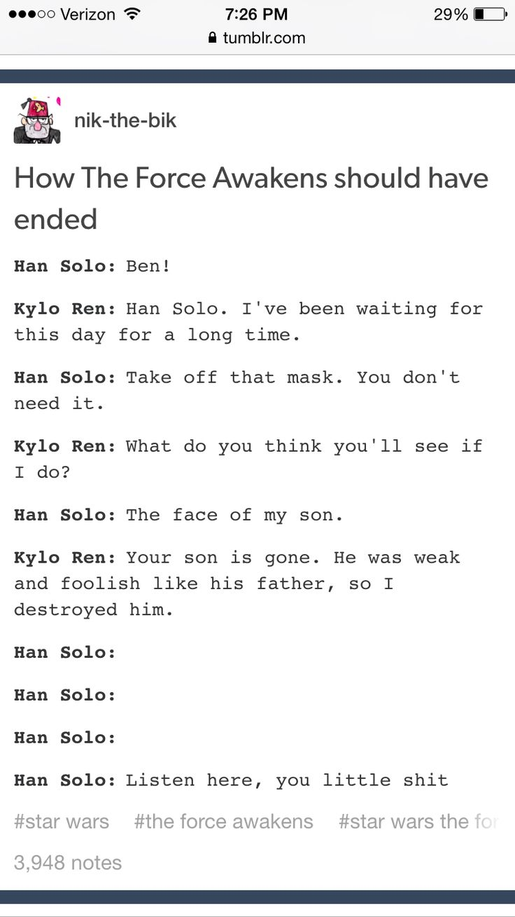 Ben Solo and Han Solo moment  Tumblr