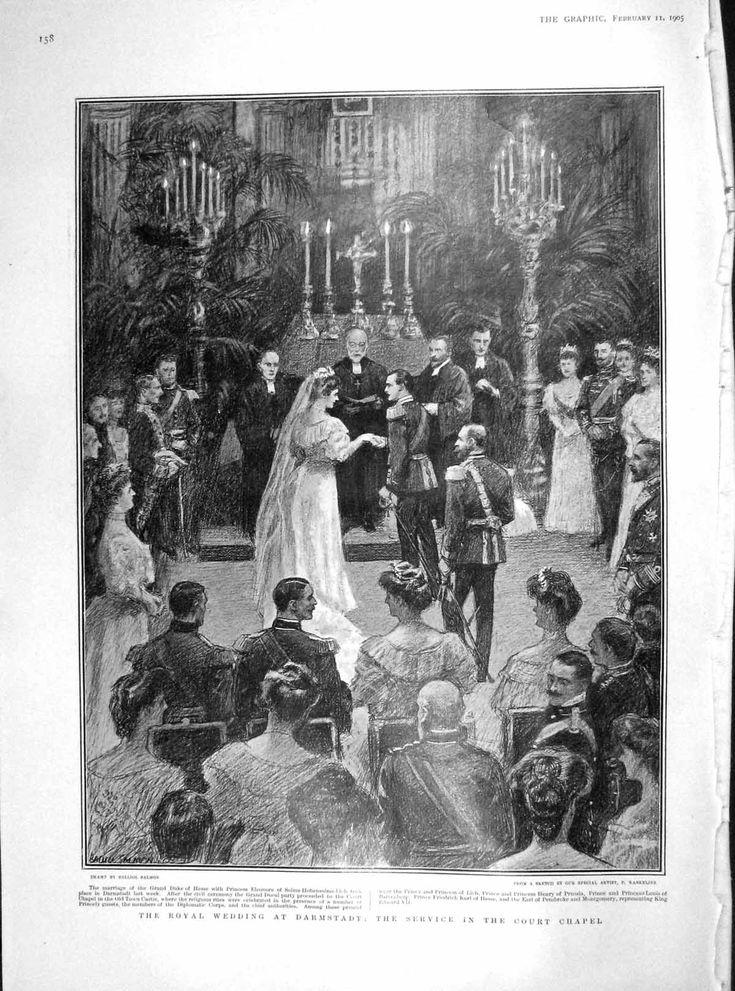 1905 Royal Wedding Darmstadt Court Chapel Eleonore