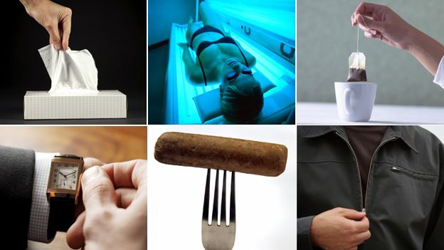 10 inventions that owe their success to World War One. WW1 inventions (clockwise from top left): paper tissues; sun lamp; tea bag; zip; vegetarian sausage; wristwatch