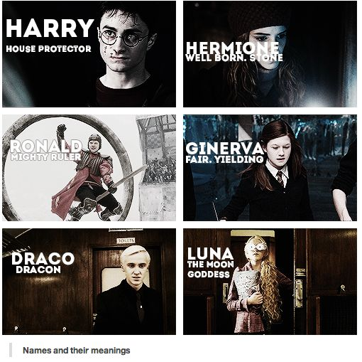 Harry Potter cast and the meaning of their names ...