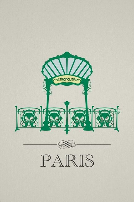Paris Metro. For me Paris is one of the most beautiful cities in the world