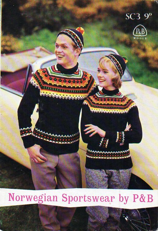 womens / mens fair isle sweater knitting pattern pdf 4ply ladies fairisle jumper Vintage 60s 34-36 40-42inch 4ply fingering Instant download