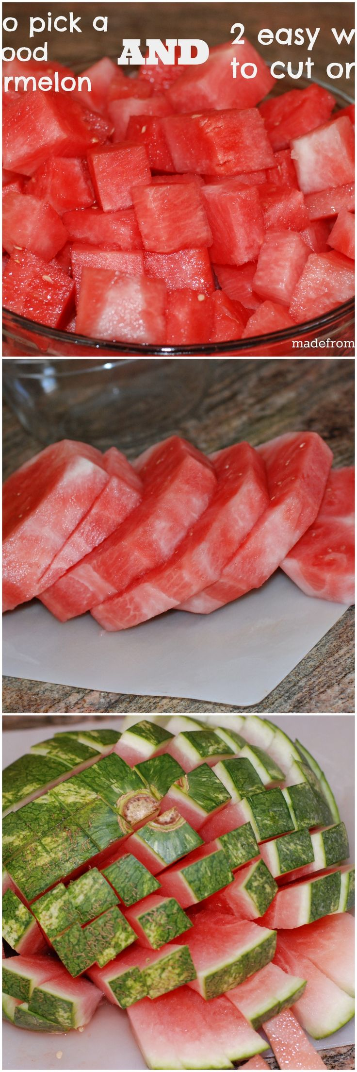 How to pick a watermelon and two ways to cut one. Makes it so easy!