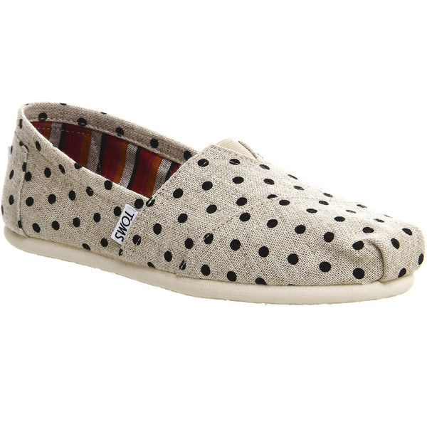 Buy Women Shoes / Toms Natural Polka Dot Slip On Trainers