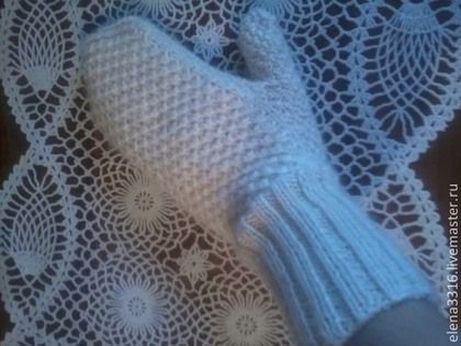 схемы вязания варежек из козьего пуха фото