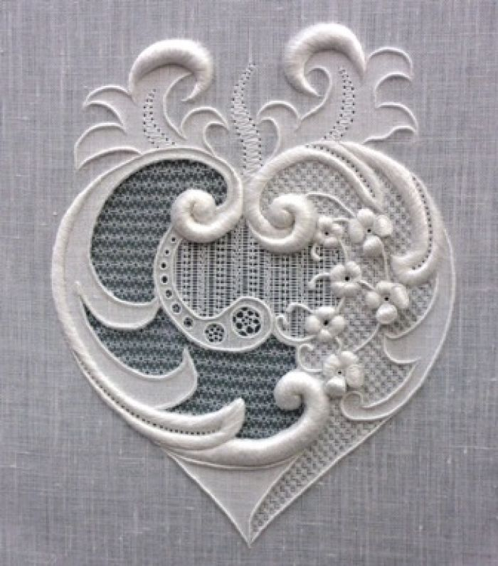Stunning, Fine Whitework, by Royal School of Needlework Diploma student Lianne Hart
