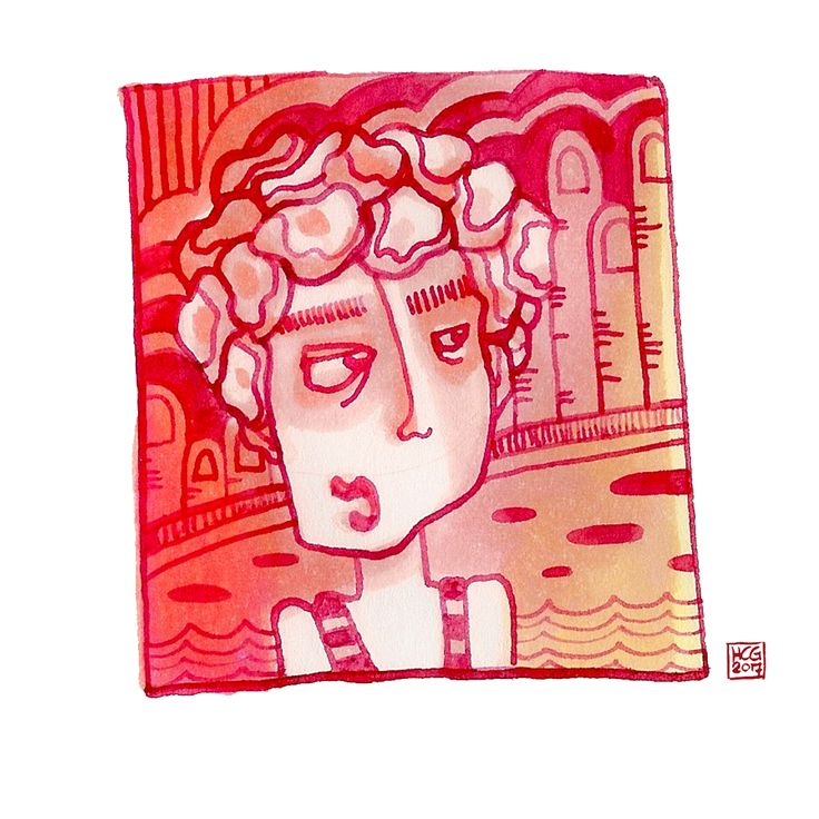 'Badmuts' Illustratie met markers en inkt by Hilda groenesteyn / studio Hille