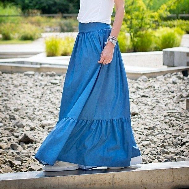 Skirt available on Etsy. Link in profile #mrsnoproblem #maxiskirt #blueskirt #skirt #denim #denimskirt #denimmaxiskirt #fashion #fashionblog #polishdesign #polishfashion #summer #clothing #clothes 👚 #woman #etno #boho #freedom #femininity #womanhood