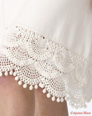 Grande varietà di bordi all'uncinetto - Crochet endings