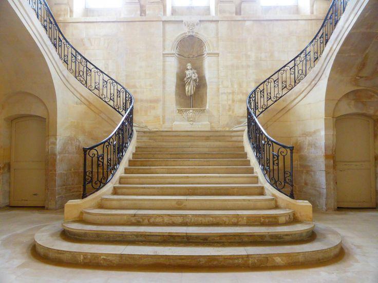 Escalier Abbaye Des Dames Caen Calvados Normandie Escalier