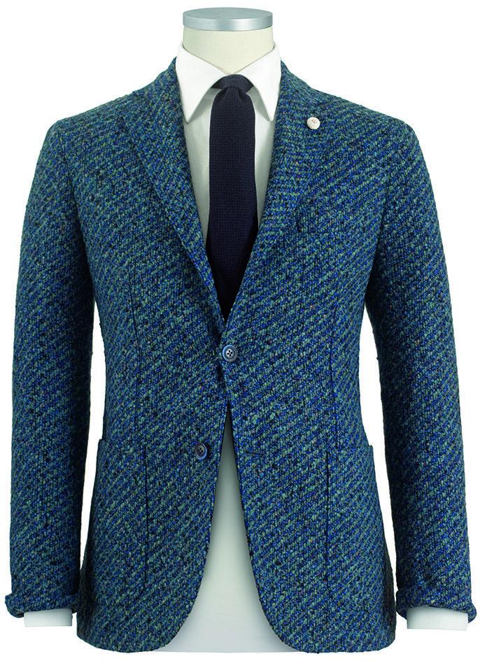 #giacca da uomo #blazer  modello #boucle in pura lana vergine #fashion #menswear #Lubiam Luigi Bianchi Mantova