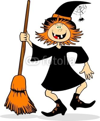 Funny Halloween witch :))))  #Halloween #vector