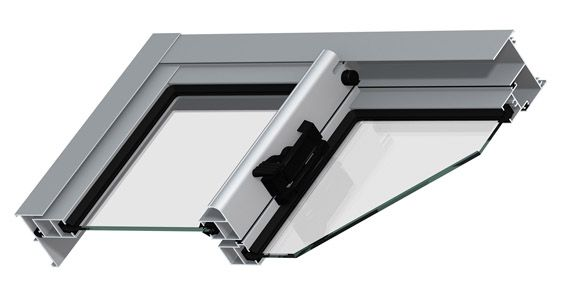 GUILLOTINA    Guillotina de aluminio para ventanas. Hojas con muelle compensado. Aperturas compensadas sin esfuerzo y con el 100% de visión.
