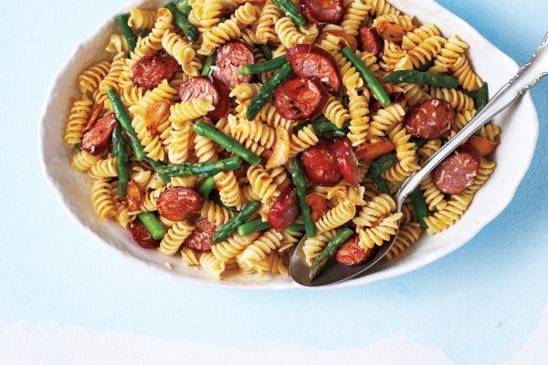 Chorizo and Asparagus Pasta